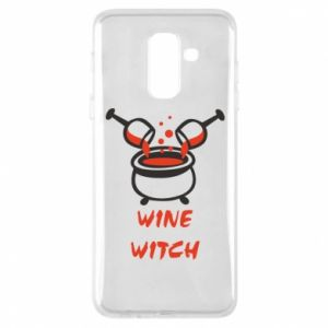 Phone case for Samsung A6+ 2018 Wine witch - PrintSalon
