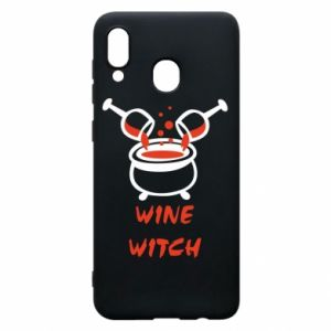 Phone case for Samsung A20 Wine witch - PrintSalon