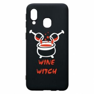 Phone case for Samsung A40 Wine witch - PrintSalon