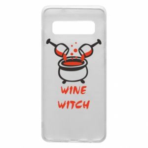 Phone case for Samsung S10 Wine witch - PrintSalon
