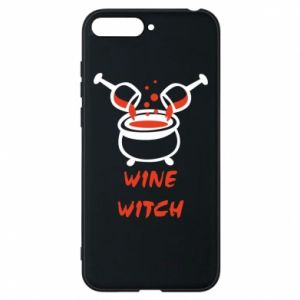 Phone case for Huawei Y6 2018 Wine witch - PrintSalon