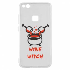Phone case for Huawei P10 Lite Wine witch - PrintSalon