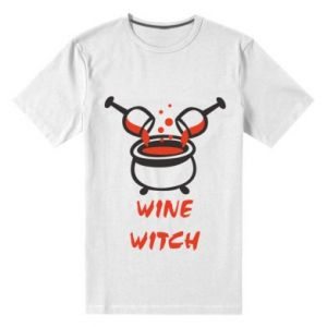 Men's premium t-shirt Wine witch - PrintSalon