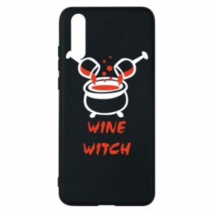 Phone case for Huawei P20 Wine witch - PrintSalon