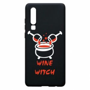 Phone case for Huawei P30 Wine witch - PrintSalon