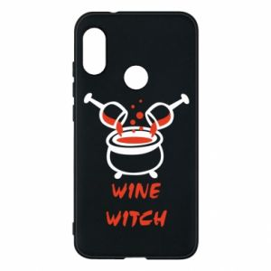 Phone case for Mi A2 Lite Wine witch - PrintSalon