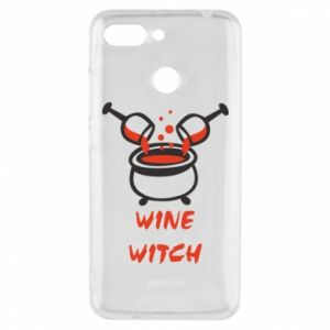 Phone case for Xiaomi Redmi 6 Wine witch - PrintSalon