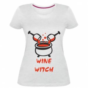Women's premium t-shirt Wine witch - PrintSalon