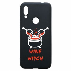Phone case for Xiaomi Redmi 7 Wine witch - PrintSalon