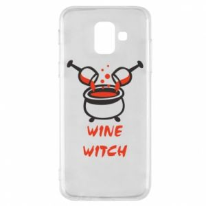 Phone case for Samsung A6 2018 Wine witch - PrintSalon