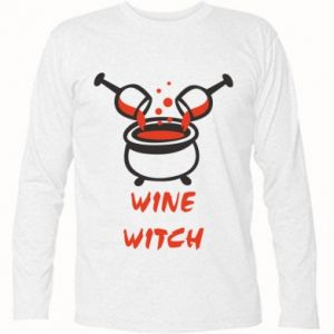 Long Sleeve T-shirt Wine witch - PrintSalon