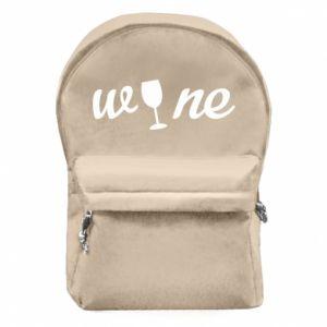 Plecak z przednią kieszenią Wine