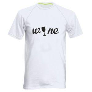 Męska koszulka sportowa Wine