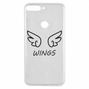 Phone case for Huawei Y7 Prime 2018 Wings