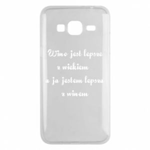 Phone case for Samsung J3 2016 Wine is better with age, and I'm better with wine