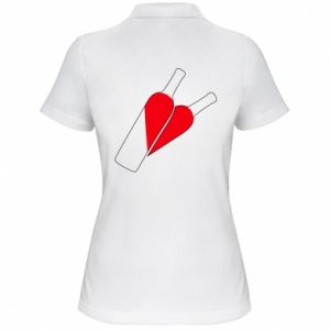 Damska koszulka polo Wino to miłość