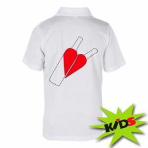 Dziecięca koszulka polo Wino to miłość