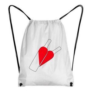 Plecak-worek Wino to miłość