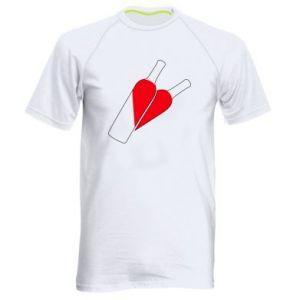 Męska koszulka sportowa Wino to miłość