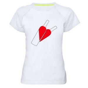 Women's sports t-shirt Wine is love