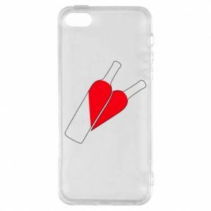 Etui na iPhone 5/5S/SE Wino to miłość