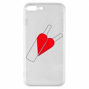 Etui na iPhone 8 Plus Wino to miłość