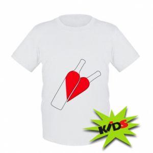 Kids T-shirt Wine is love