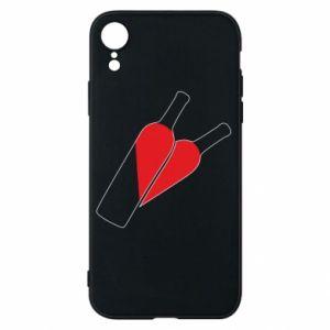 Etui na iPhone XR Wino to miłość