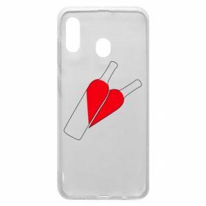 Etui na Samsung A20 Wino to miłość