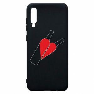 Etui na Samsung A70 Wino to miłość