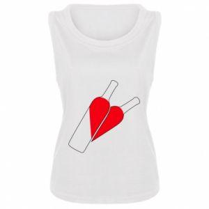 Damska koszulka bez rękawów Wino to miłość