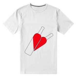 Men's premium t-shirt Wine is love