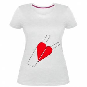 Damska premium koszulka Wino to miłość