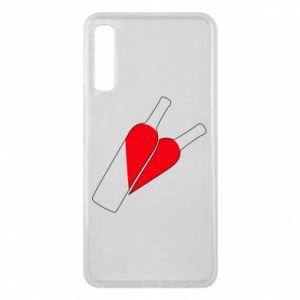 Etui na Samsung A7 2018 Wino to miłość