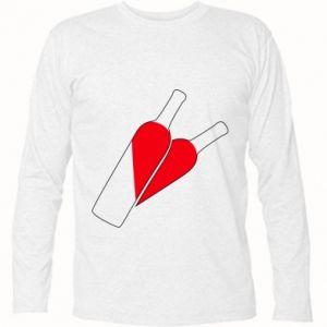 Koszulka z długim rękawem Wino to miłość