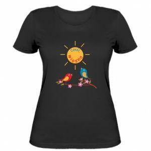 Damska koszulka Cześć, wiosno!