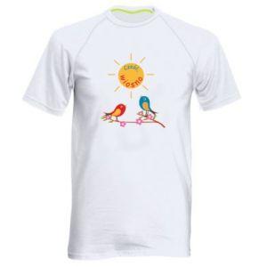 Męska koszulka sportowa Cześć, wiosno!