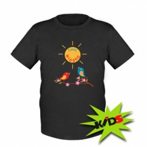 Kids T-shirt Hi, spring!