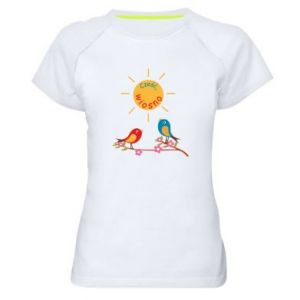 Women's sports t-shirt Hi, spring!