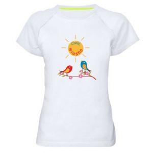Damska koszulka sportowa Cześć, wiosno!