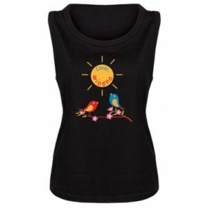 Damska koszulka bez rękawów Cześć, wiosno!