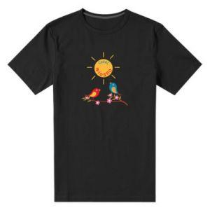 Męska premium koszulka Cześć, wiosno!