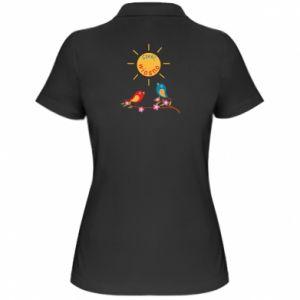 Damska koszulka polo Cześć, wiosno!
