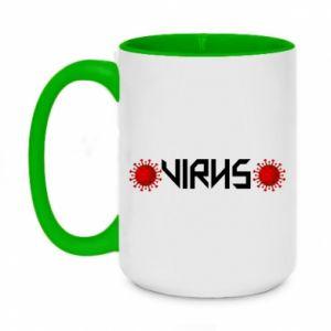 Two-toned mug 450ml Virus