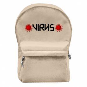 Plecak z przednią kieszenią Wirus