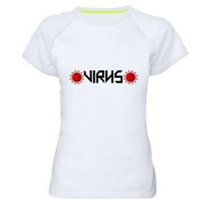 Damska koszulka sportowa Wirus