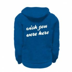 Bluza na zamek dziecięca Wish you were here