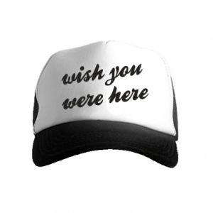 Czapka trucker dziecięca Wish you were here