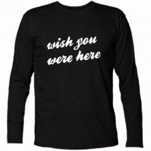 Koszulka z długim rękawem Wish you were here