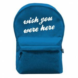 Plecak z przednią kieszenią Wish you were here